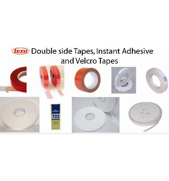 Double sided tape, Instant adhesive and Velcro tapes